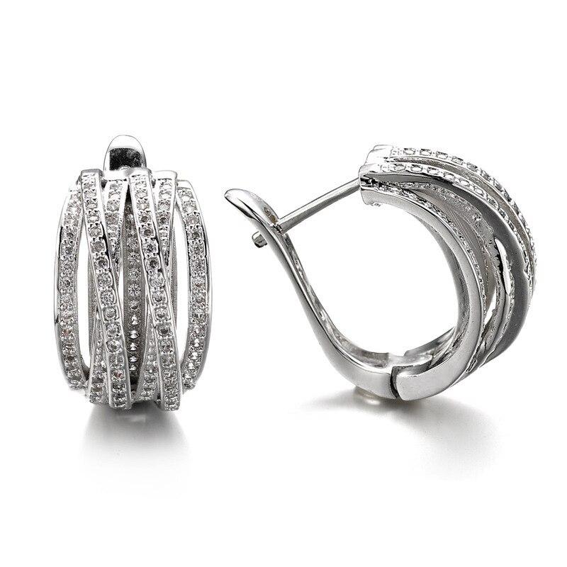 European Fashion Retro Zircon Multi Cross Hoop Earrings Exaggerated Jewelry SJ111923 Zk20