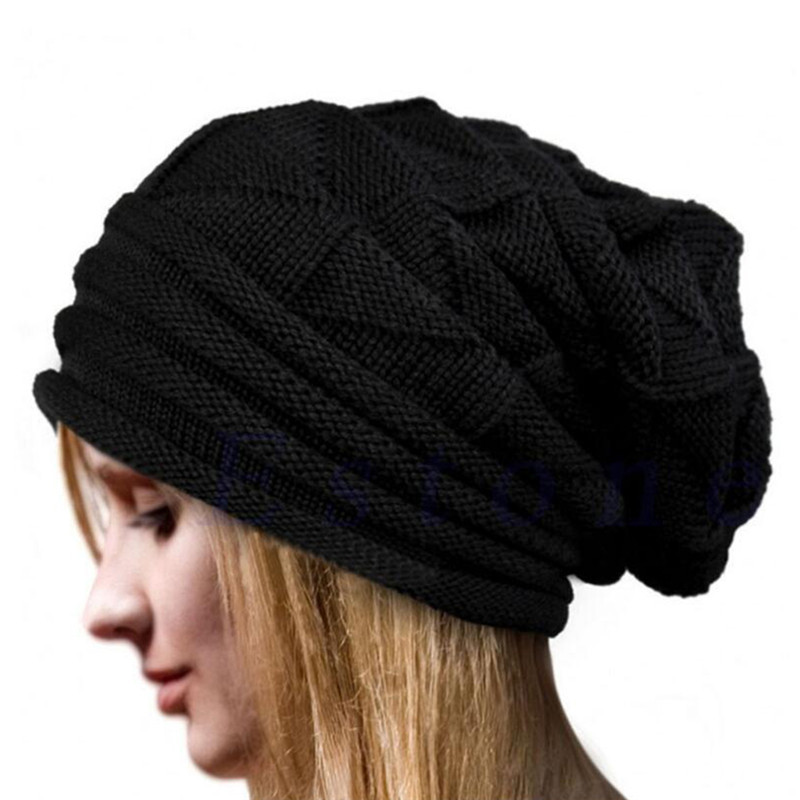 Fashion Bonnet Women Winter Hat Female Warm Beanie Crochet Hat Knit Baggy Cap Hip Hop Hat Women Caps Skullies & Beanies 2017 winter women beanie skullies men hiphop hats knitted hat baggy crochet cap bonnets femme en laine homme gorros de lana