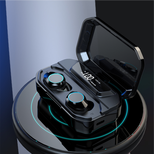 Wireless Earbuds with LED Display Charger Box