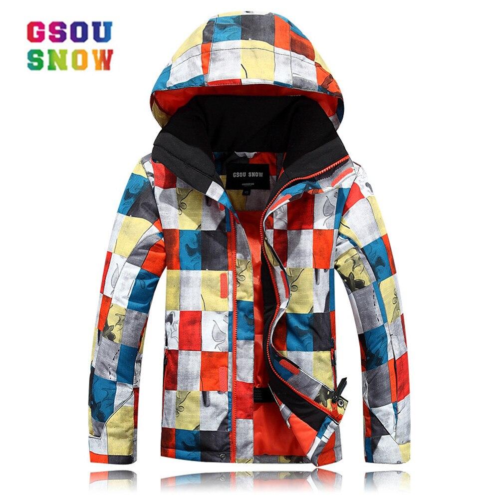 Gsou neige hiver Ski pour garçons enfants imperméable chaud Snowboard veste de Ski Snowboard extérieur Ski neige porter coupe-vent