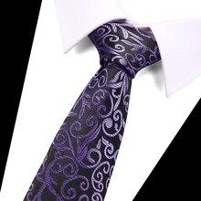 New Design Neck Ties 7.5 cm Plaid&Dot 100% Silk for Men Formal Business Wedding Party Gravatas