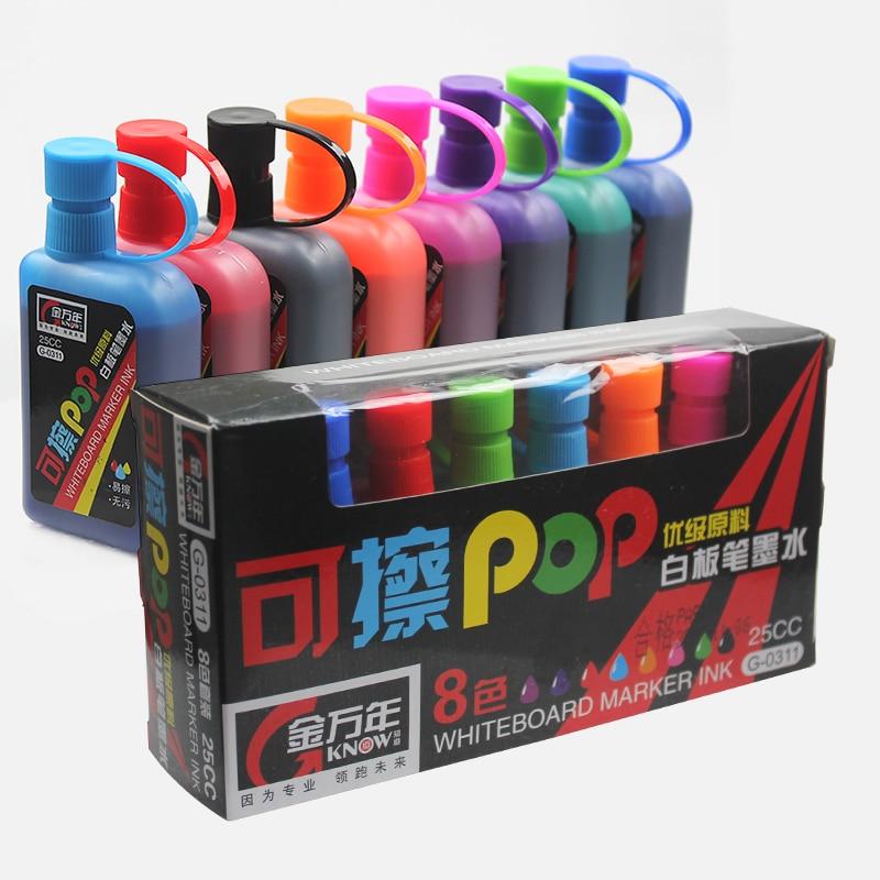 SAPERE 8 Colori/set Lavagna Inchiostro Cancellabile POP Art Marker Rigeneratore Per La Scuola Fornitore