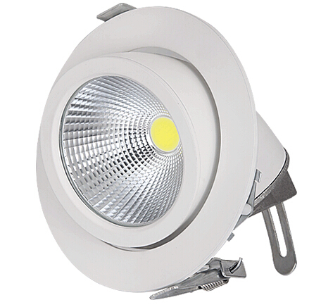 ФОТО Adjustable 40W COB Trunk lamp LED Downlight Down light lamp recessed Super Bright Indoor Light 85~265V CE RoHS warranty 3 years