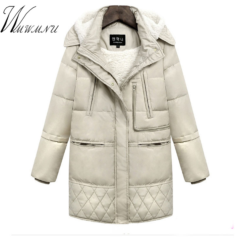Wmwmnu Winter Collection Winter Women Coat Jacket Warm High Quality Woman Hooded Coat Woman Clothes Winter Jacket With Pockets tfmln 2017 new warm women parkas down cotton jacket hooded coat woman outwear clothes winter high quality jacket with pockets