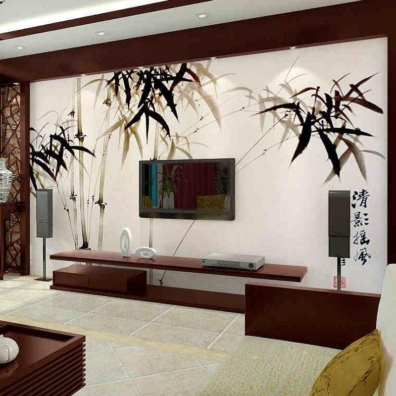 Estilo chino del papel pintado para paredes 3 d de bamb - Catalogo de papel pintado para paredes ...