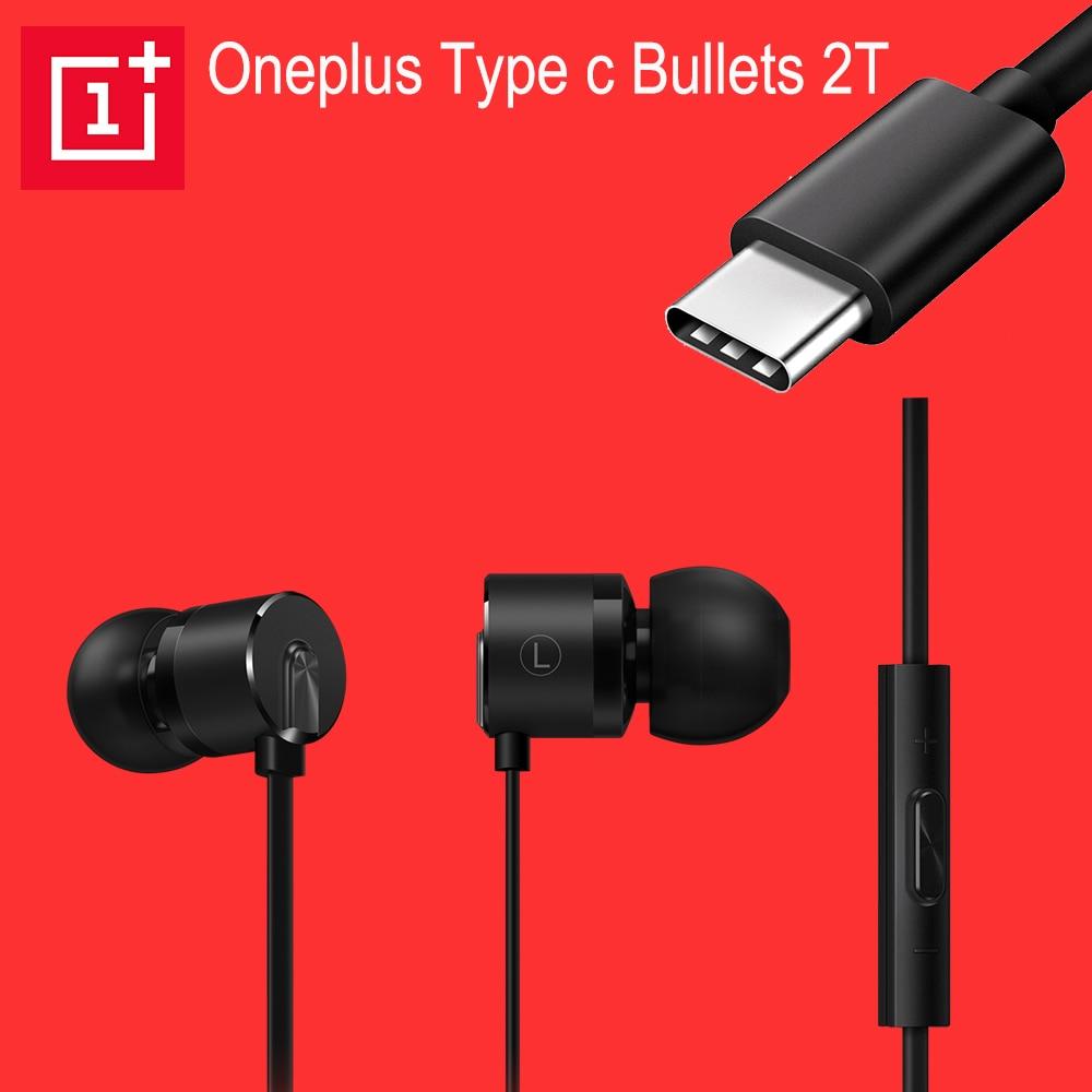 Oneplus Type C Bullets Earphones Original Oneplus 6T 6 5T 5 Bullet  USB TYPE-c Wired In Ear Earphone Headset Mic Volume Control