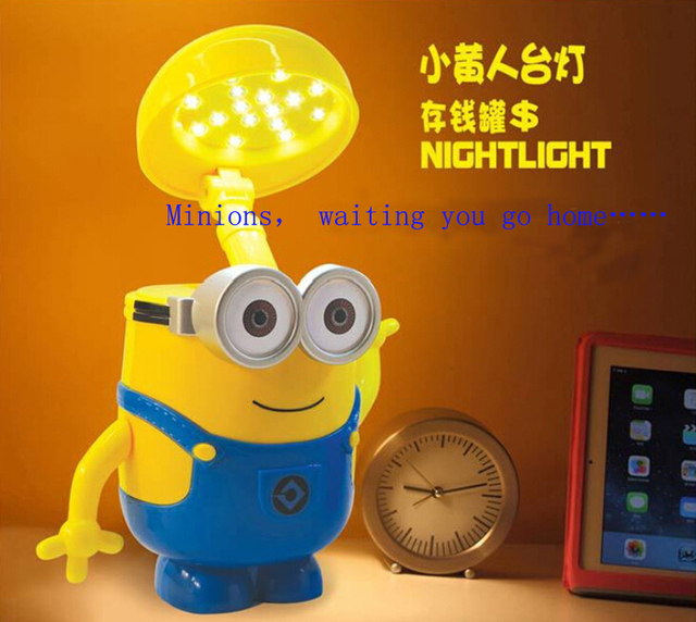 Minions Charging Lamp Learning Lamp Led Night Light Money Coins Box Minions  Piggy Bank Children Kids