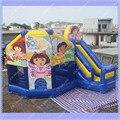 Dora Inflable Castillo inflable, Castillo inflable Combo, comercial Inflable Dora Castillo Hinchable para Los Niños, Envío Libre de DHL