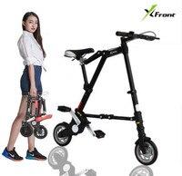 Nova xfront abike unissex 8 polegada roda mini ultra leve dobrável bicicleta do metrô veículos de trânsito estrada esportes ao ar livre