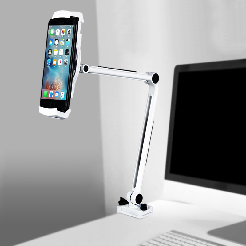 Aluminum Phone 360 Holder Bed Desk Clamp Stand for iPhone XS X 7 8 Plus Oppo