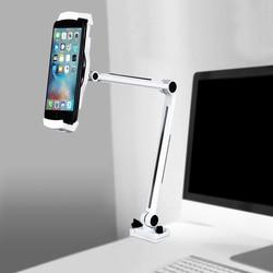 Aluminium telefon 360 uchwyt na łóżko biurko zacisk stojak na iPhone'a XS/X/7/8/Plus Oppo Find X Samsung uwaga 8 Xiaomi Redmi Huawei Mate 20
