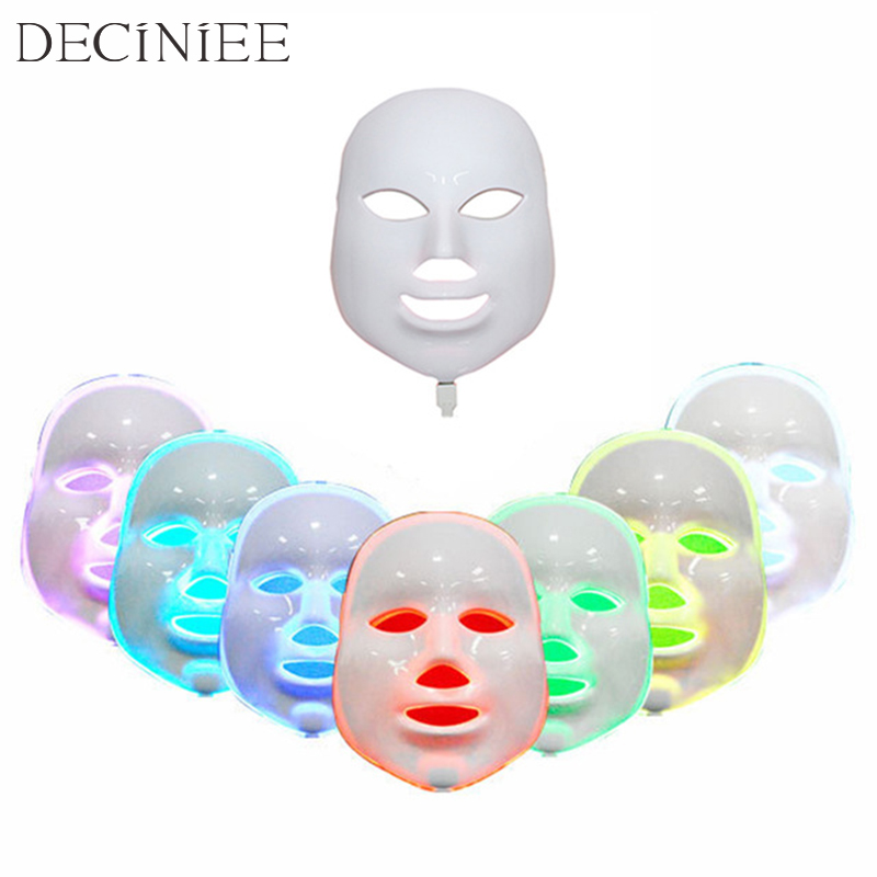 7 Colors LED Facial Mask Face Mask Machine Photon Therapy Light Skin Rejuvenation Acne Facial PDT Skin Care Beauty Mask Home use new 3 color led light therapy face mask skin care photon rejuvenation acne remover beauty face skin care tools red green blue