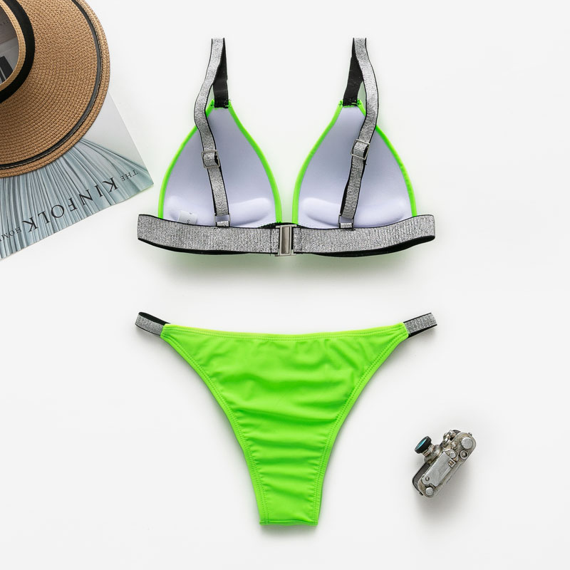 Bikinx Neon green micro bikini 2019 bathing suit Sexy push up swimsuit female bathers Triangle swimwear women swim suit biquinis