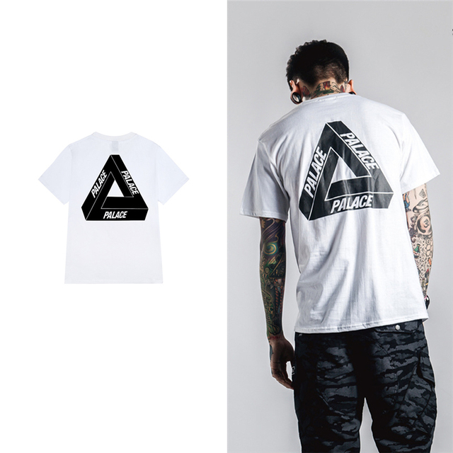 129e4d3e73b4 2017 Fashion white Palace T shirt Men women rock clothing cotton Palace  Skateboards Tee shirts Summer Style Palace T-shirt