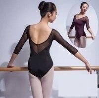 Sexy Dance Costume Ballet Performance Adult Purple Leotard Girls Gymnastic Leotards For Women Costume Unitard Ballet