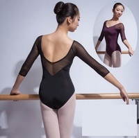 Sexy Dance Costume Ballet Performance Adult Purple Leotard Girls Gymnastic Leotards For Women Costume Unitard Ballet