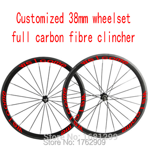 1pair New MAVIC COSMIC SL 700C 38mm Clincher Rim Road Bike 3K Full Carbon Bicycle Wheelset