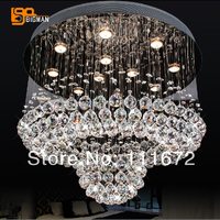 new lustres modern crystal lamp living room chandelier with remote control