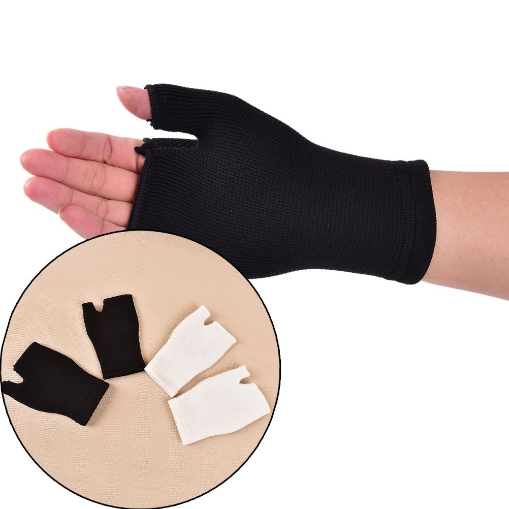 1Pair Wrist Support Bandage Removable Hand Brace Finger Splint Carpal Protection Wrap Glove Elastic Palm Hand Wrist Health Care