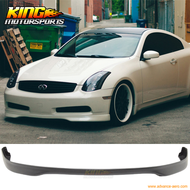For 03 07 Fit Infiniti G35 Coupe Tr Front Per Lip Spoiler Polyurethane