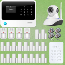 Chuangkesafe G90B WiFi GSM GPRS Sistema de Intrusión Puerta/Ventana Del Sensor + Cámara HD IP