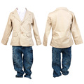 Hot! Baby Boys Fashionable Clothing Sets 3pcs/Set Children Kids Coat + Casual Shirt + Denim Pants Perfect Gifts
