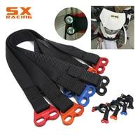 Motorcycle Universal Fork Rescue Strap Pull Sling Belt For KTM EXC SX SXF XC YZ YZF WR WRF CR CRF XR RMZ DRZ KX KLX KXF