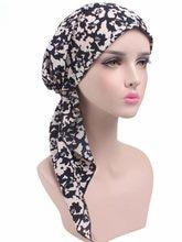 Nowa damska opaska na głowę kapelusz po chemioterapii Turban wstępnie wiązana nakrycia głowy chustka na głowę Tichel na raka różne kolory
