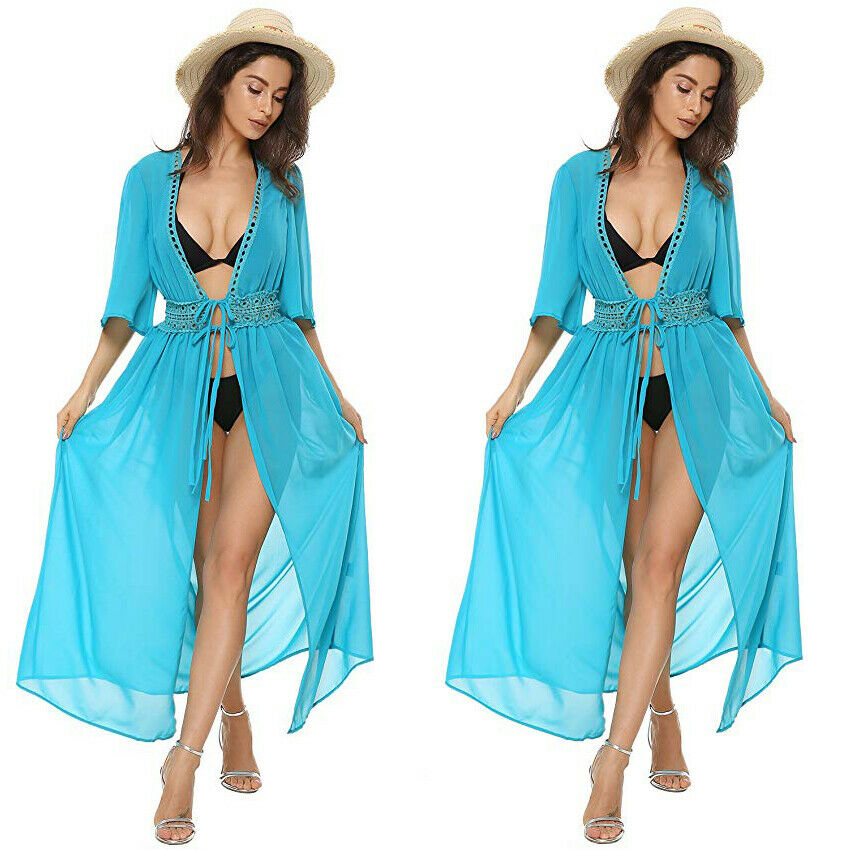 HTB1xB FUwTqK1RjSZPhq6xfOFXa7 - Ladies Women Sexy Bikini Cover up Beach Dress Robe Swimwear Chiffon Beachwear Bathing Suit Summer Holiday Kimono Cardigan New