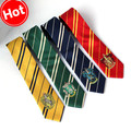 Fashion Harry Potter College Ties Gryffindor Slytherin Ravenclaw Hufflepuff Mens Office Tie Student Gentleman School Badge Ties