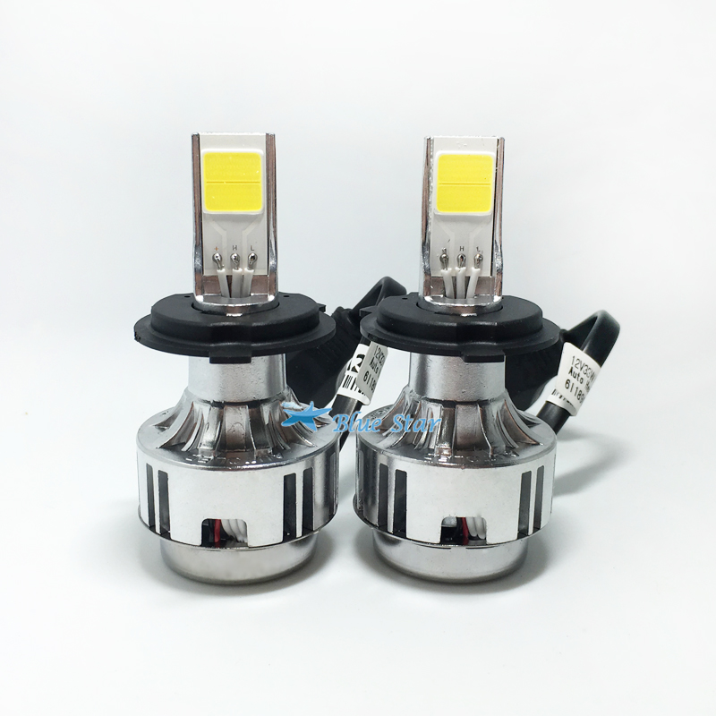 LED H4 Car Headlights Kit 66W 6000lm Auto Front Light H4 Bulb White 6000K Plug&Play LED Automotive Headlamp