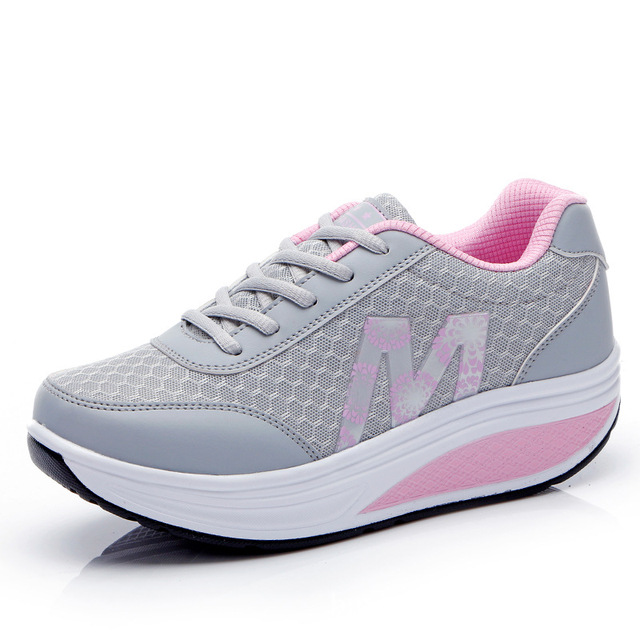 Height Increasing 2016  Swing Shoes Woman Breathable Mesh Platform Shoes Summer Zapatos Mujer Women Shoes Plus Size 36-40