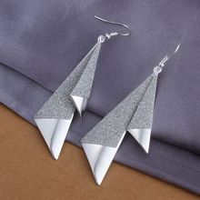 Estilo del verano fine silver plated pendientes 925-sterling-silver belleza joyería pendientes de gota para para SE326