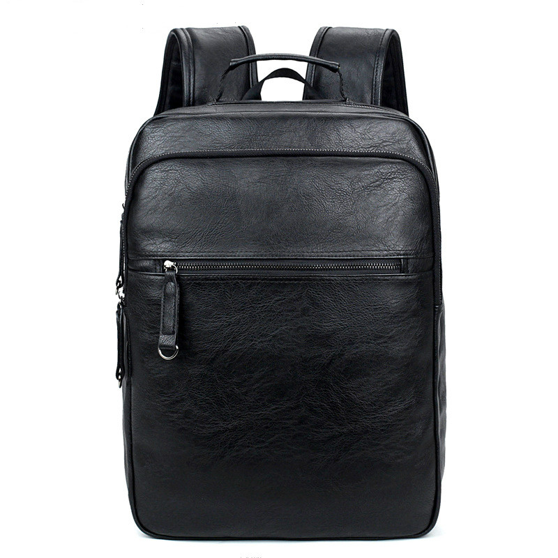 2017 Men Backpacks Quality Leather Men's Travel Bag Fashion Man Backpack Casual Business Backpack Male School Bags Mochila weibin male functional bags fashion men backpack big capacity pu leather men school backpacks for boys business travel mochila