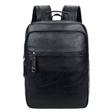 цена на 2017 Men Backpacks Quality Leather Men's Travel Bag Fashion Man Backpack Casual Business Backpack Male School Bags Mochila
