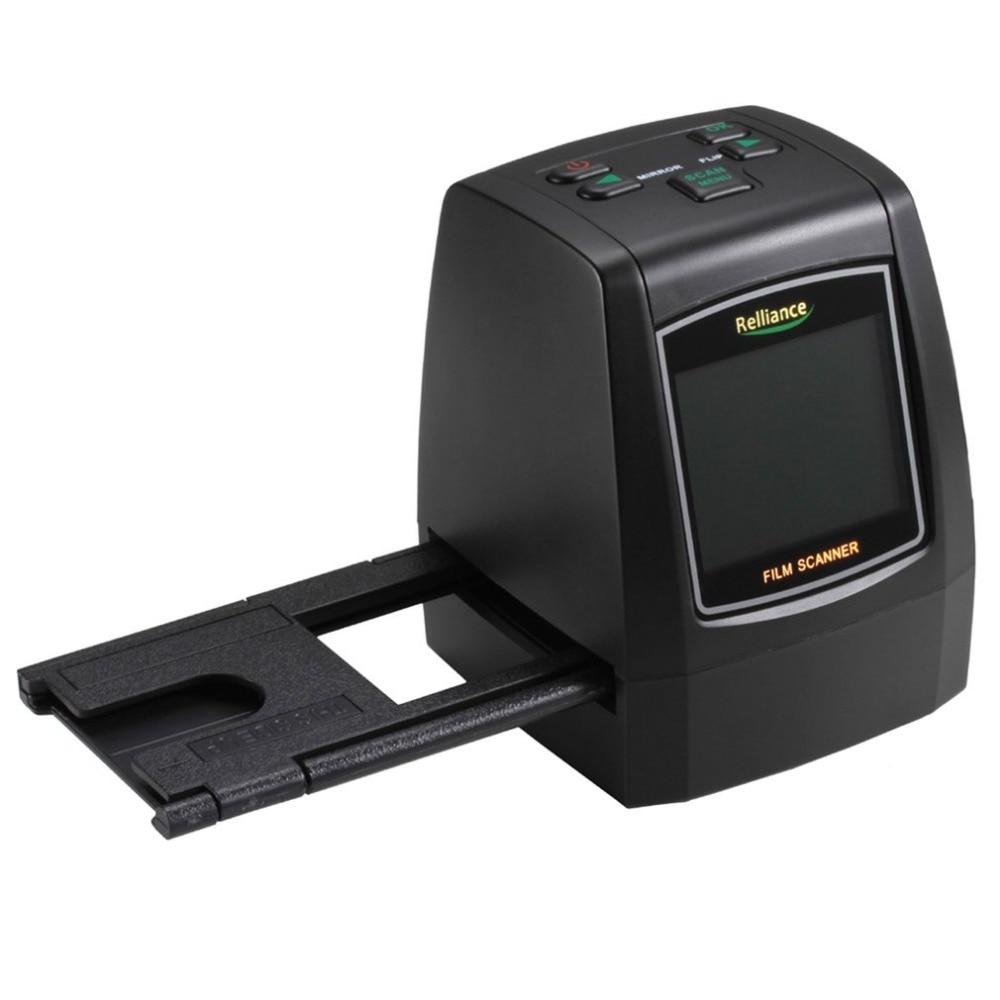 Relliance EC018 Film Scanner 135mm/ 126mm/ 110mm/ 8mm High-resolution Negative Film Slide Scanner Converter USB MSDC EU/US plug