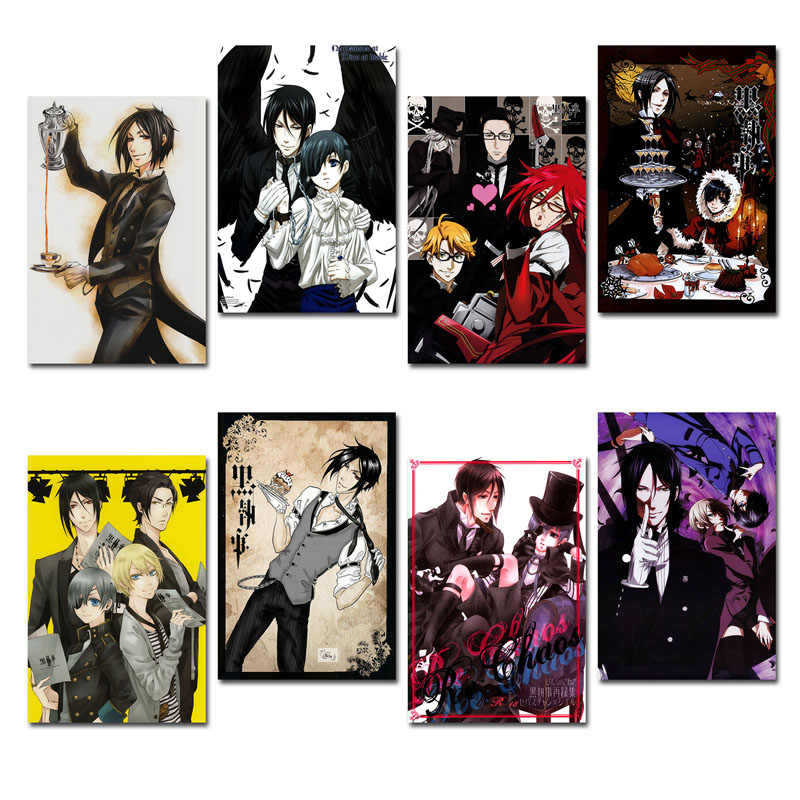 Art Silk Or Canvas Print Black Butler Anime Movie Poster 13x20 24x36 inch For Room Decor Decoration-001