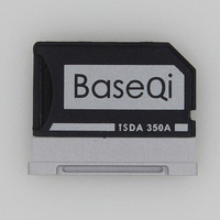 BASEQI Aluminum MiniDrive Micro SD Card Adapter TF Card Reader For Microsoft Surface Book 13 5inch