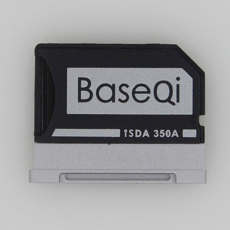BASEQI Aluminum MiniDrive Micro SD Card Adapter TF Card Reader For Microsoft Surface Book 13.5inch/Surface Book2 13.5''Model350A ssk scrm 060 multi in one usb 2 0 card reader for sd ms micro sd tf white