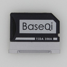 BASEQI Aluminum MiniDrive Micro SD Card Adapter TF Card Reader For Microsoft Surface Book 13.5inch 350A