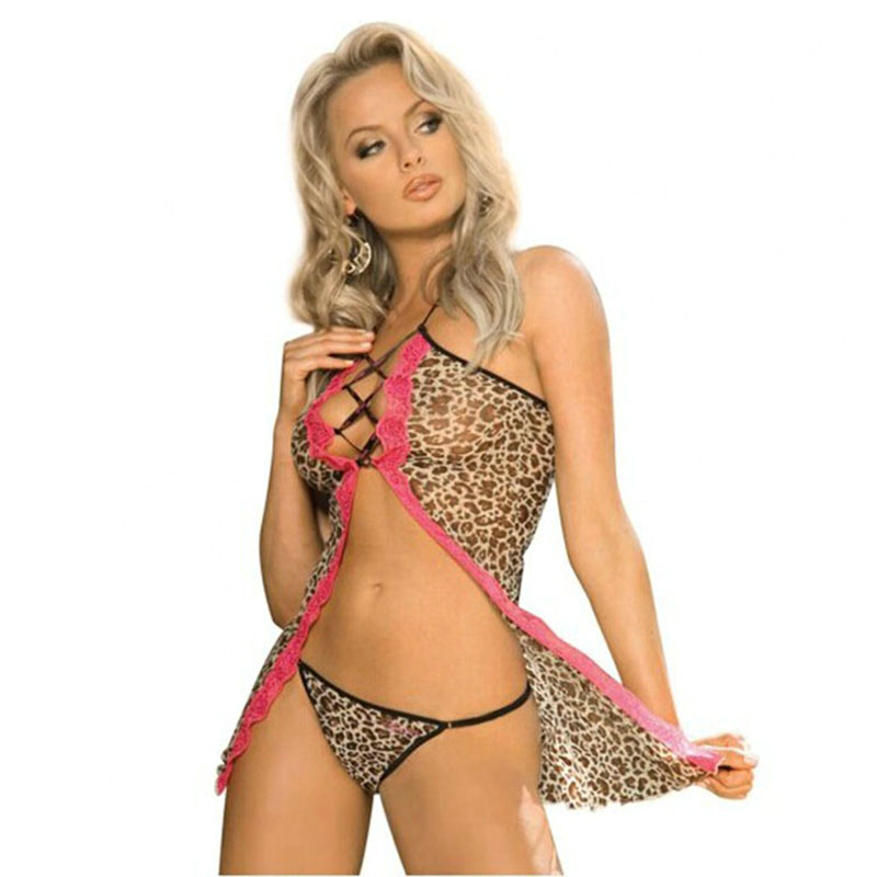 Erotic Leopard Lingerie sexy lingerie Set High Quality Women Sexy Costumes Erotic Set font b Sex