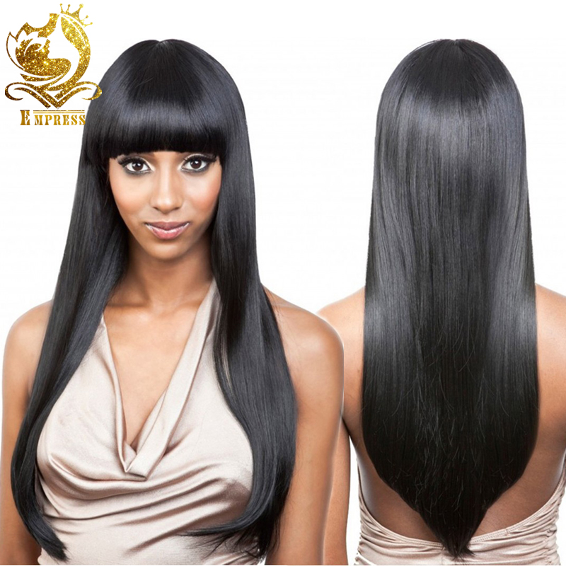 a1f36ef114 Brazilian Hair Lace Wig Full Lace Hair Wigs With Bangs Front Lace Wig  Straight lace front hair wigs black women