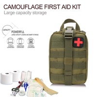 Outdoor First Aid Kit Tactical Medical Bag Travel Multifunctional Waist Pack Camping Climbing Bag Emergency Case