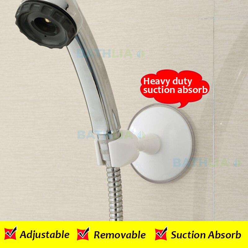Adjustable Strong Suction Shower Head Holder ABS Plastic Shower ...
