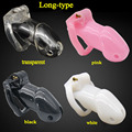(1pcs hot sale) New male chastity device penis lock sleeve plastic cock cage bdsm sex toys for men dick cages cb6000s