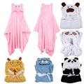 6 Cute Animal Flannel Cartoon Baby Kid's Hooded Bath Towel Toddler Blankets