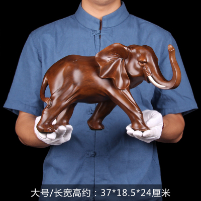 37*24*18.5CM Inviting money in living room elephant Elephant swing for wind gift office animal statue home decoration wedding