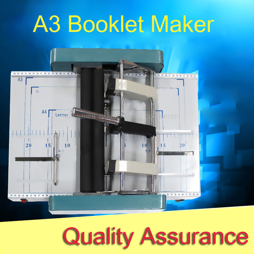 A3 Booklet Maker machine DC-100H,Manually booklet making machine, staple and folding machine,booklet maker