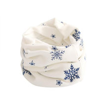 NewBest Quality Kid Scarf Snow flake Pattern Stitching O-ring Woolen Baby Scarf Neck Warmer fantastic designer scarf echarpe(China)
