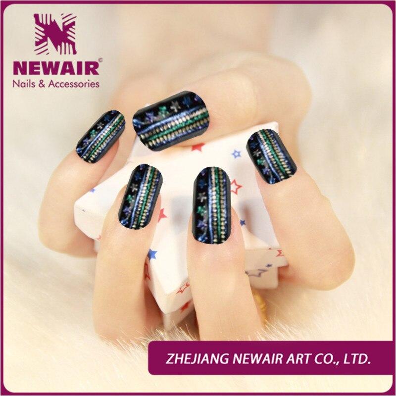 New Personalized Luxury Rhinestone Design Nail Jeweled Strips Nail ...